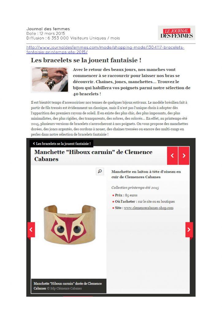 Journal des femmes - 12.03.2015