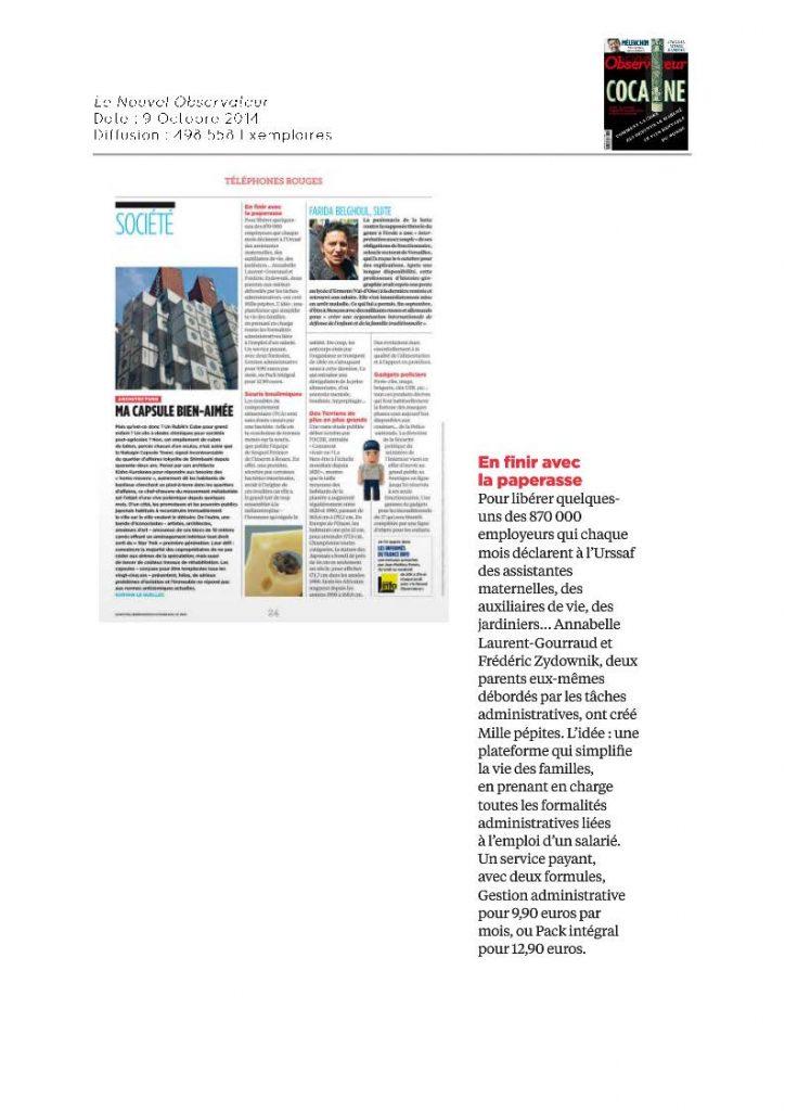 Le Nouvel Observateur - 09.10.2014
