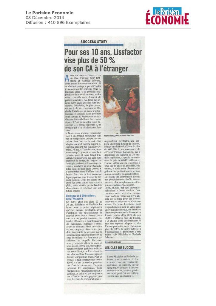 Le Parisien Economie-08 12 14