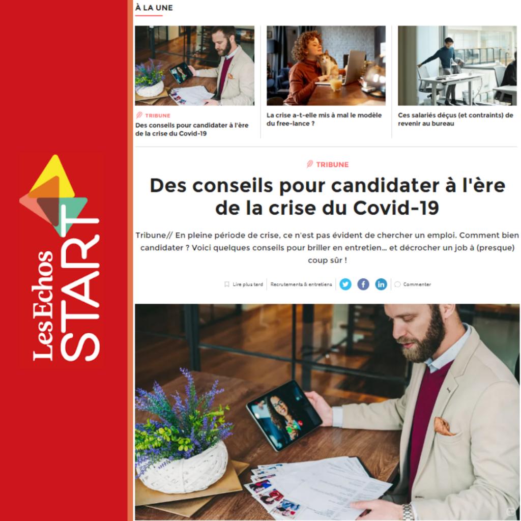 """Tribune """"conseils"""" pour aider à candidater pendant la crise signée par Pauline Lahary, CEO de myCVfactory"""